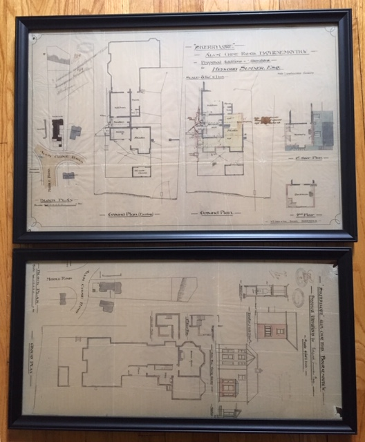 RARE: Original Plans for an Addition to Skerryvore Together With Original Plans for Improvements to Middle Road Showing Robert Louis Stevenson as owner of Skerryvore and showing the Owners and Tenants of Neighboring Properties [Strange Case of Dr. Jekyll and Mr. Hyde]. Robert Louis Stevenson, Heywood Sumner.