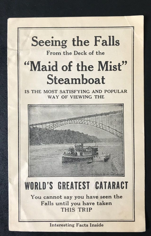 Maid of the Mist tour of Niagara Falls [Advertisement]. No Author Stated, Anthony Trollope, Theodore Roosevelt.