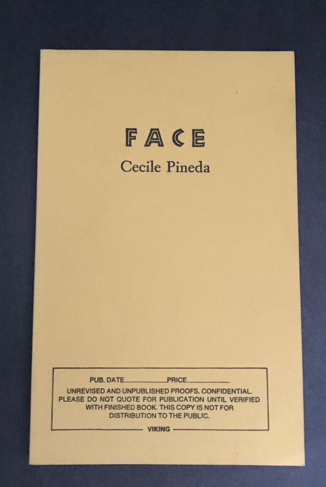 Face [Uncorrected Proof]. Cecile Pineda.