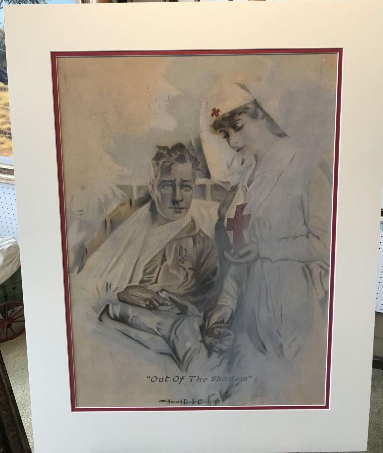 Out of the Shadow [ORIGINAL PASTEL ART BY HOWARD CHANDLER CHRISTIE, CAPTIONED, SIGNED, AND DATED BY HIM]. Howard Chandler Christy.