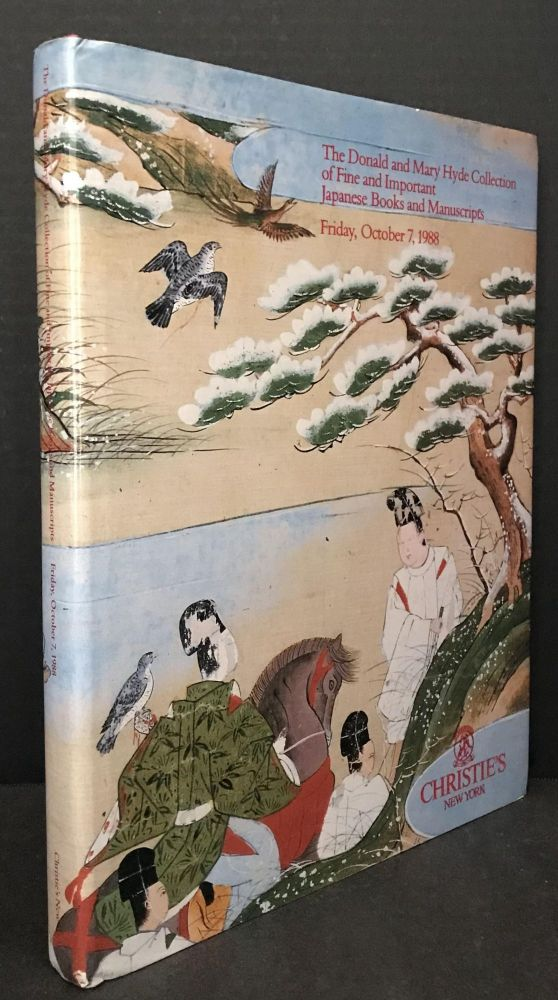 The Donald and Mary Hyde Collection of Fine and Important Japanese Books and Manuscripts [Christie's Catalogue]. Stated.