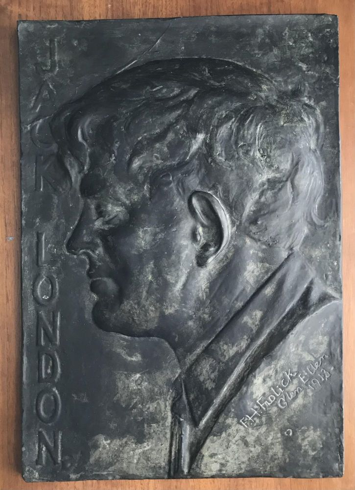 Bas Relief of Jack London Author of The Call of the Wild, White Fang, The Sea-Wolf, The Iron Heel, Martin Eden, Burning Daylight, The Star Rover, and many others]. Jack London, Finn Haakon Frolich.