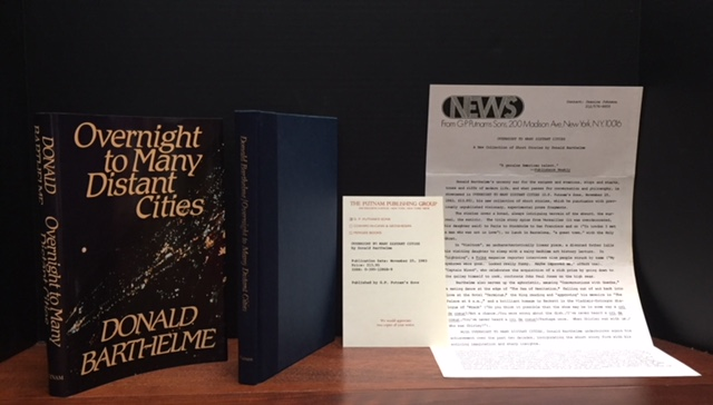 Overnight to Many Distant Cities [Advance Review Copy]. Donald Barthelme.