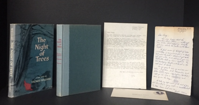 The Night of Trees [Signed Association Copy together with Two Letters from Williams to the inscribee]. Thomas Williams.