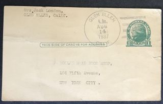 Typed Post Card with Original Signature re: Obtaining Copies of Jack London's Works [Signed];...