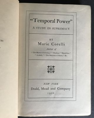 """""""Temporal Power"""" A Study in Supremacy"""