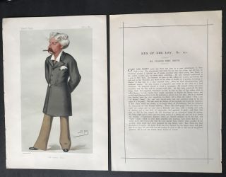Original Illustration and Profile of Bret Harte published in Vanity Fair Magazine; [Harte,...