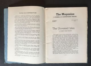 The Magazine: Journal of Contemporary Writing