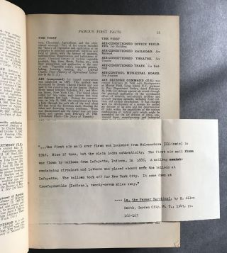 Famous First Facts [Signed Association copy; JACOB BLANCK'S COPY with his corrections inserted]