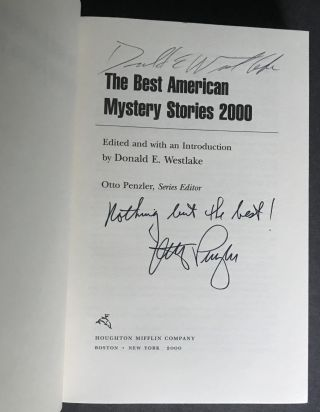 The Best American Mystery Stories 2000 [Signed 2X]