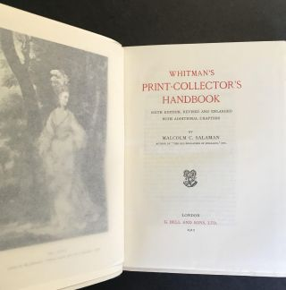 Whitman's Print-Collector's Handbook; [Print Collector's Handbook]; Sixth Edition, Revised And Enlarged With Additional Chapters