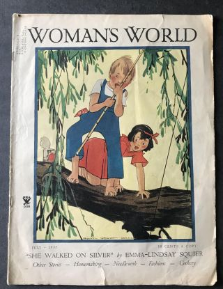 Girl Campers: Woman's World for April, 1935 [Patricia Highsmith's Debut Appearance in Print.] ...