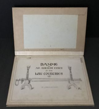 Original Drawings for Damme; An Ancient Town In The Low Countries by J. Tavenor-Perry