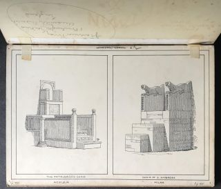Original Drawings for Episcopal Chairs by J. Tavenor-Perry (1842-1915)