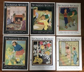 "Girl Campers: Woman's World for 1935 [Rare set of entire year] [Patricia Highsmith's Debut Appearance in Print.] (Note:Highsmith also wrote many other works, none of which are offered here, such as: ""Strangers on a Train"", ""The Talented Mr. Ripley"" and the other Tom Ripley novels, and many other works)"