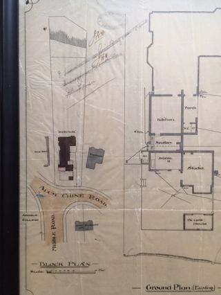 RARE: Original Plans for an Addition to Skerryvore Together With Original Plans for Improvements to Middle Road Showing Robert Louis Stevenson as owner of Skerryvore and showing the Owners and Tenants of Neighboring Properties [Strange Case of Dr. Jekyll and Mr. Hyde]