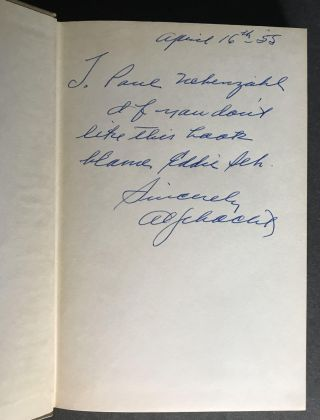 My Own Particular Screwball an informal autobiography by Al Schacht [SIGNED]