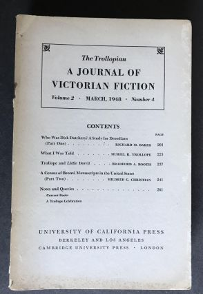 The Trollopian; A Journal of Victorian Fiction (Six Issues)
