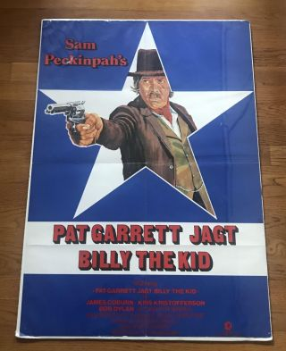 Pat Garrett and Billy the Kid [Rare German Poster from Bob Dylan Movie: Pat Garrett Chases Billy...