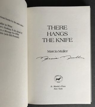 There Hangs the Knife [Signed]; A Joanna Stark Mystery