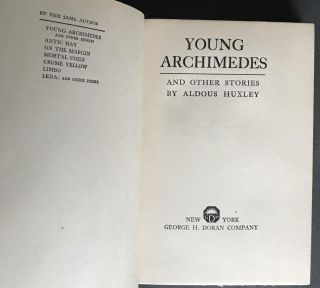 Young Archimedes and Other Stories [Review Copy]