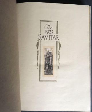 The 1932 Savitar A History of the University of Missouri for the Year 1931-1932 [First Appearance of any Tennessee Williams Poem in book form -- and possibly the first appearance by him of any work in any published book]; [Annual/Yearbook for the University of Missouri]