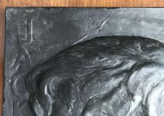 Bas Relief of Jack London Author of The Call of the Wild, White Fang, The Sea-Wolf, The Iron Heel, Martin Eden, Burning Daylight, The Star Rover, and many others]