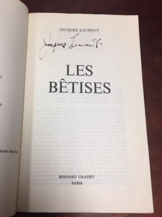 Les Betises [The Nonsense] [Signed]
