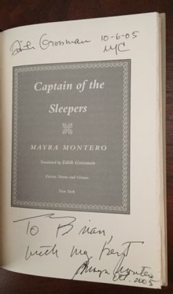 Captain of the Sleepers [Signed by both Author and Translator]