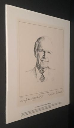 Photographic Copy of Pencil Drawing [Signed 2X]. Erskine Caldwell, Virginia Caldwell.