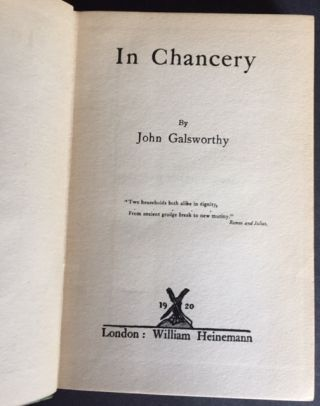 In Chancery [In the Dust Jacket]