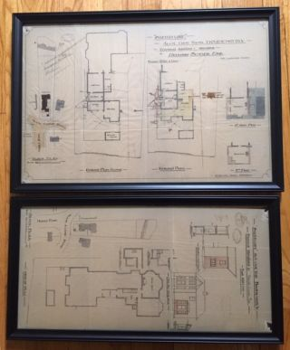 RARE: Original Plans for an Addition to Skerryvore Together With Original Plans for Improvements...